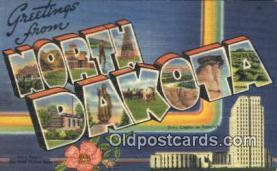 LLT201356 - North Dakota USA Large Letter Town Vintage Postcard Old Post Card Antique Postales, Cartes, Kartpostal