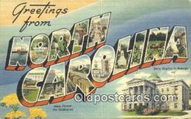 LLT201357 - North Carolina USA Large Letter Town Vintage Postcard Old Post Card Antique Postales, Cartes, Kartpostal