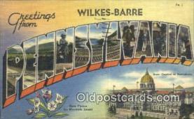 LLT201361 - Pennsylvania USA Large Letter Town Vintage Postcard Old Post Card Antique Postales, Cartes, Kartpostal