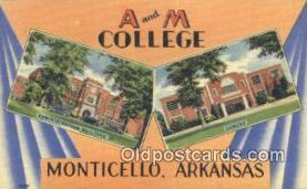 LLT201364 - Monticello, Arkansas USA Large Letter Town Vintage Postcard Old Post Card Antique Postales, Cartes, Kartpostal