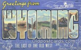 LLT201368 - Wyoming USA Large Letter Town Vintage Postcard Old Post Card Antique Postales, Cartes, Kartpostal
