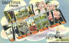 LLT201374 - West Virginia USA Large Letter Town Vintage Postcard Old Post Card Antique Postales, Cartes, Kartpostal