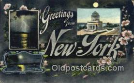 LLT201375 - New York USA Large Letter Town Vintage Postcard Old Post Card Antique Postales, Cartes, Kartpostal