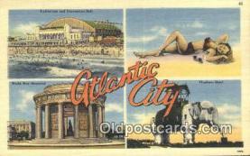 LLT201380 - Atlantic City USA Large Letter Town Vintage Postcard Old Post Card Antique Postales, Cartes, Kartpostal