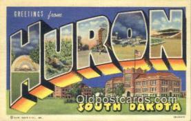 LLT201388 - Huron, South Dakota USA Large Letter Town Vintage Postcard Old Post Card Antique Postales, Cartes, Kartpostal