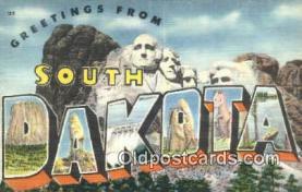 LLT201394 - South Dakota USA Large Letter Town Vintage Postcard Old Post Card Antique Postales, Cartes, Kartpostal