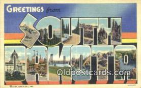 LLT201395 - South Dakota USA Large Letter Town Vintage Postcard Old Post Card Antique Postales, Cartes, Kartpostal