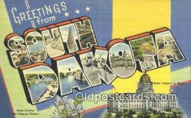 LLT201396 - South Dakota USA Large Letter Town Vintage Postcard Old Post Card Antique Postales, Cartes, Kartpostal