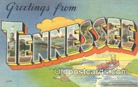 LLT201398 - Tennessee USA Large Letter Town Vintage Postcard Old Post Card Antique Postales, Cartes, Kartpostal