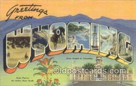 LLT201402 - Wyoming USA Large Letter Town Vintage Postcard Old Post Card Antique Postales, Cartes, Kartpostal