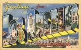 LLT201404 - Los Angeles, California USA Large Letter Town Vintage Postcard Old Post Card Antique Postales, Cartes, Kartpostal