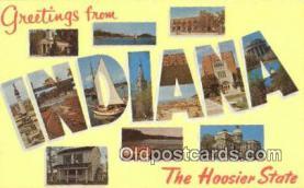 LLT201405 - Indiana USA Large Letter Town Vintage Postcard Old Post Card Antique Postales, Cartes, Kartpostal