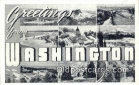 LLT201406 - Washington USA Large Letter Town Vintage Postcard Old Post Card Antique Postales, Cartes, Kartpostal