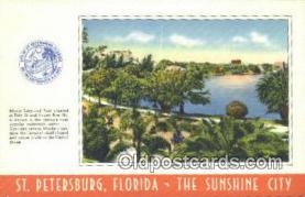 LLT201408 - St Petersburg, Florida USA Large Letter Town Vintage Postcard Old Post Card Antique Postales, Cartes, Kartpostal