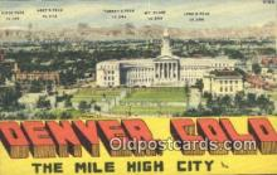 LLT201411 - Denver, Colo USA Large Letter Town Vintage Postcard Old Post Card Antique Postales, Cartes, Kartpostal