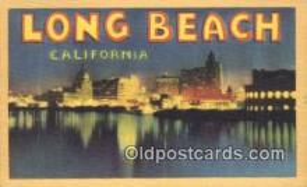 LLT201414 - Long Beach, California USA Large Letter Town Vintage Postcard Old Post Card Antique Postales, Cartes, Kartpostal
