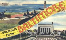 LLT201415 - Baltimore, Maryland USA Large Letter Town Vintage Postcard Old Post Card Antique Postales, Cartes, Kartpostal