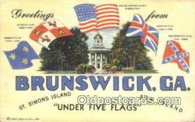 LLT201423 - Brunswick, Ga USA Large Letter Town Vintage Postcard Old Post Card Antique Postales, Cartes, Kartpostal