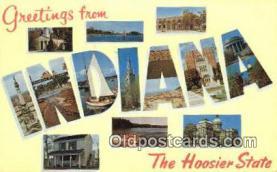LLT201426 - Indiana USA Large Letter Town Vintage Postcard Old Post Card Antique Postales, Cartes, Kartpostal