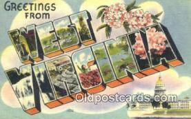 LLT201427 - West Virginia USA Large Letter Town Vintage Postcard Old Post Card Antique Postales, Cartes, Kartpostal