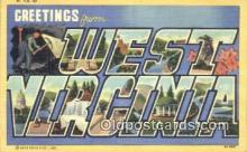 LLT201428 - West Virginia USA Large Letter Town Vintage Postcard Old Post Card Antique Postales, Cartes, Kartpostal