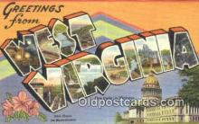 LLT201430 - West Virginia USA Large Letter Town Vintage Postcard Old Post Card Antique Postales, Cartes, Kartpostal
