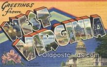 LLT201431 - West Virginia USA Large Letter Town Vintage Postcard Old Post Card Antique Postales, Cartes, Kartpostal