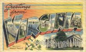 LLT201432 - Virginia USA Large Letter Town Vintage Postcard Old Post Card Antique Postales, Cartes, Kartpostal