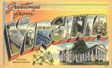 LLT201433 - Virginia USA Large Letter Town Vintage Postcard Old Post Card Antique Postales, Cartes, Kartpostal