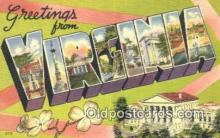 LLT201434 - Virginia USA Large Letter Town Vintage Postcard Old Post Card Antique Postales, Cartes, Kartpostal