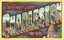 LLT201437 - Charleston, W VA USA Large Letter Town Vintage Postcard Old Post Card Antique Postales, Cartes, Kartpostal