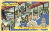 LLT201441 - West Virginia USA Large Letter Town Vintage Postcard Old Post Card Antique Postales, Cartes, Kartpostal