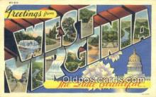 LLT201442 - West Virginia USA Large Letter Town Vintage Postcard Old Post Card Antique Postales, Cartes, Kartpostal