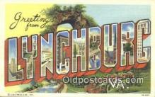 LLT201447 - Lynchburg, VA USA Large Letter Town Vintage Postcard Old Post Card Antique Postales, Cartes, Kartpostal