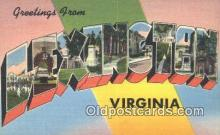 LLT201449 - Lexington, Virginia USA Large Letter Town Vintage Postcard Old Post Card Antique Postales, Cartes, Kartpostal