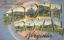 LLT201451 - Front Royal, Virginia USA Large Letter Town Vintage Postcard Old Post Card Antique Postales, Cartes, Kartpostal