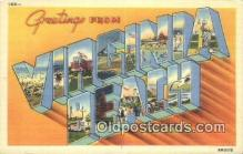 LLT201461 - Virginia Beach, Virginia USA Large Letter Town Vintage Postcard Old Post Card Antique Postales, Cartes, Kartpostal