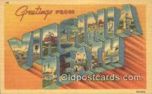 LLT201462 - Virginia Beach, Virginia USA Large Letter Town Vintage Postcard Old Post Card Antique Postales, Cartes, Kartpostal