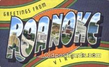 LLT201463 - Roanoke, Virginia USA Large Letter Town Vintage Postcard Old Post Card Antique Postales, Cartes, Kartpostal