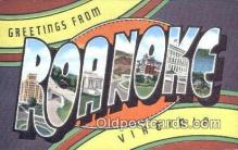 LLT201467 - Roanoke, Virginia USA Large Letter Town Vintage Postcard Old Post Card Antique Postales, Cartes, Kartpostal