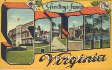 LLT201468 - Salem, Virginia USA Large Letter Town Vintage Postcard Old Post Card Antique Postales, Cartes, Kartpostal