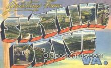 LLT201470 - Skyline Drive, VA USA Large Letter Town Vintage Postcard Old Post Card Antique Postales, Cartes, Kartpostal