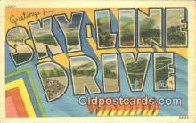 LLT201471 - Skyline Drive, Virginia USA Large Letter Town Vintage Postcard Old Post Card Antique Postales, Cartes, Kartpostal