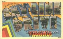 LLT201472 - Skyline Drive, Virginia USA Large Letter Town Vintage Postcard Old Post Card Antique Postales, Cartes, Kartpostal
