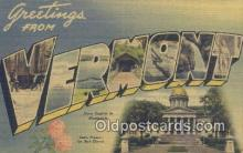 LLT201474 - Vermont USA Large Letter Town Vintage Postcard Old Post Card Antique Postales, Cartes, Kartpostal