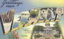 LLT201475 - Vermont USA Large Letter Town Vintage Postcard Old Post Card Antique Postales, Cartes, Kartpostal