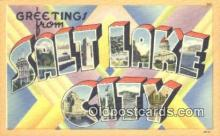 LLT201477 - Salt Lake City USA Large Letter Town Vintage Postcard Old Post Card Antique Postales, Cartes, Kartpostal