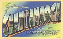LLT201478 - Chattanooga, Tenn USA Large Letter Town Vintage Postcard Old Post Card Antique Postales, Cartes, Kartpostal