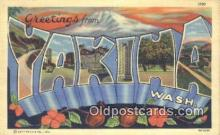 LLT201479 - Yakima, Wash USA Large Letter Town Vintage Postcard Old Post Card Antique Postales, Cartes, Kartpostal