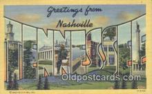 LLT201483 - Tennessee USA Large Letter Town Vintage Postcard Old Post Card Antique Postales, Cartes, Kartpostal